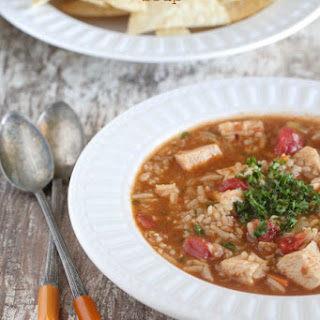 Zesty Spanish Rice Chicken Soup.