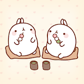 Molang Eat sweets Atom theme