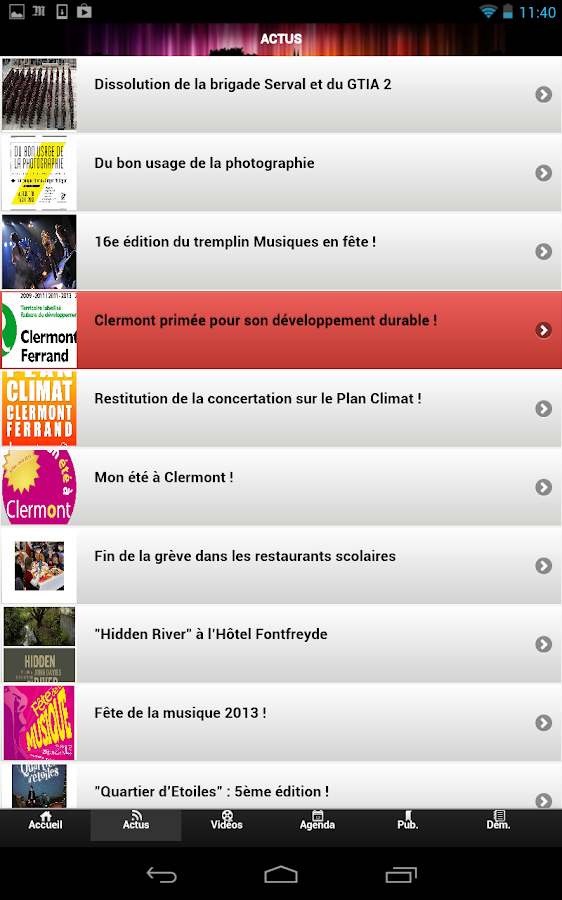 Ville de Clermont-Ferrand- screenshot