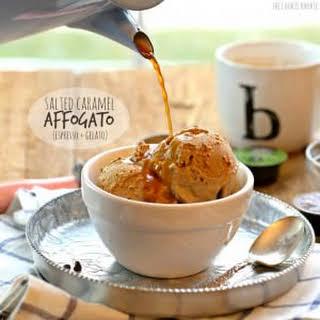Salted Caramel Affogato (Espresso + Gelato) PLUS a Keurig Rivo GIVEAWAY!!!.