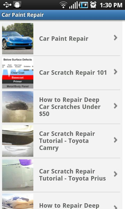 Car Paint Repair- screenshot