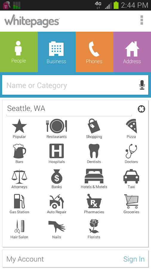 Whitepages - screenshot