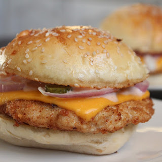 Simple And Delicious Chicken Cheese Burger.