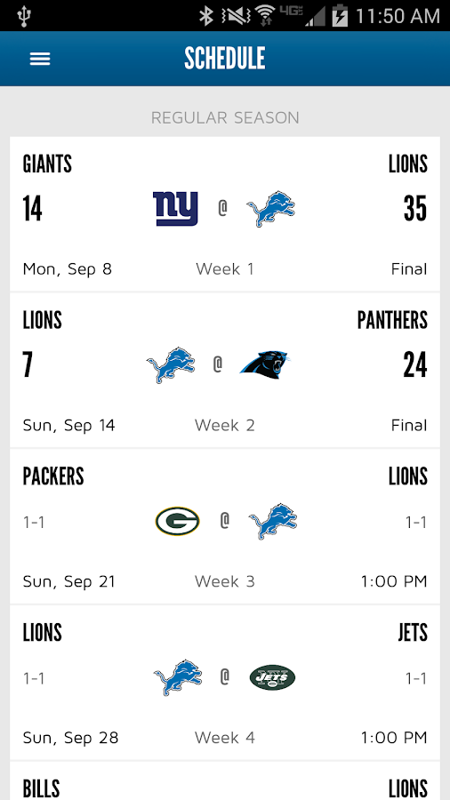 Detroit Lions Mobile - screenshot