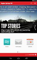 Screenshot of Hughes Springs ISD