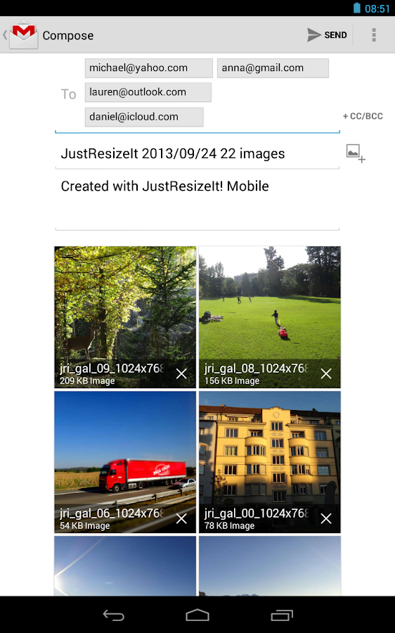 JustResizeIt! free - screenshot