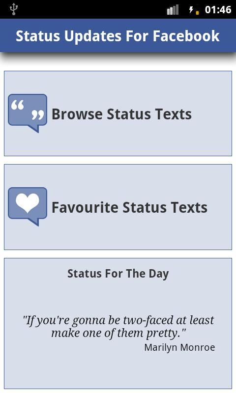 Status Updates for Facebook !! - screenshot