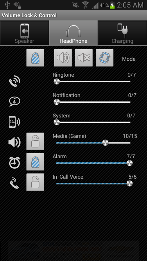 Volume Lock Control - screenshot