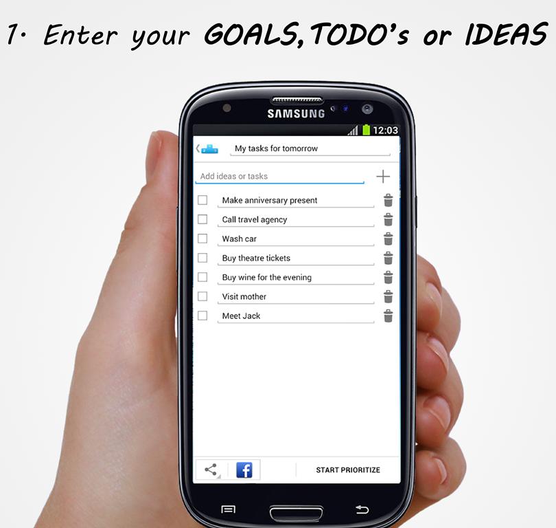 Prioritize Me! - Goals & Todos - screenshot
