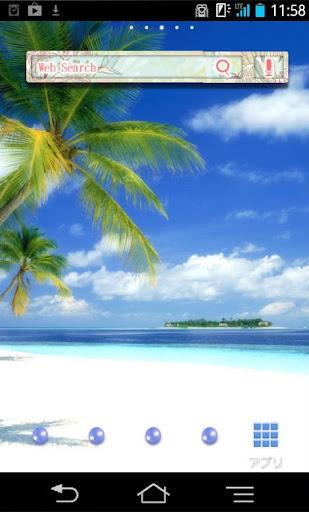 きせかえ壁紙☆南国のトロピカルビーチ