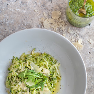 Low Carb Pasta With Rocket Pesto.