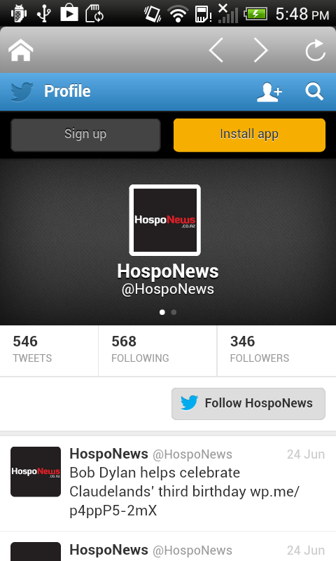 Hospo News- screenshot