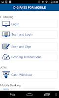 Screenshot of DIGIPASS® for Mobile Demo