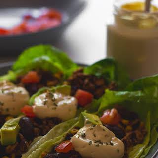 Vegan Taco Lettuce Wraps.
