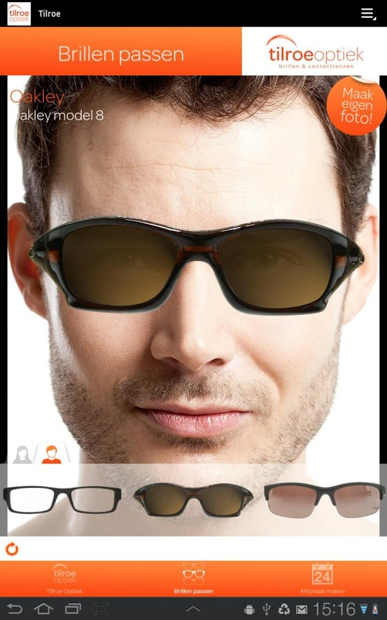 Tilroe Optiek app - screenshot