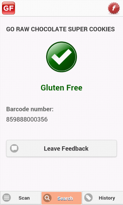 The Gluten Free Scanner - screenshot