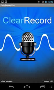 ClearRecordLite - screenshot thumbnail