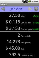 Screenshot of Fuel Tracker