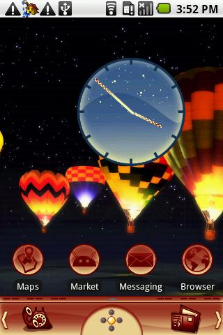 Night Glow Balloons Theme - screenshot
