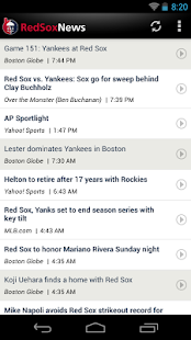 ZM: Red Sox News - screenshot thumbnail