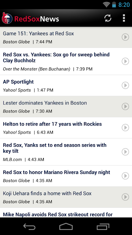 ZM: Red Sox News - screenshot