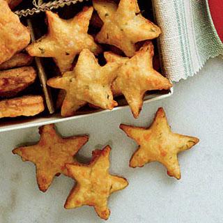 Parmesan-Basil-Cheddar Stars