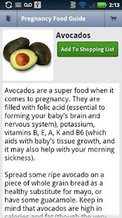 Pregnancy Food Guide- screenshot thumbnail