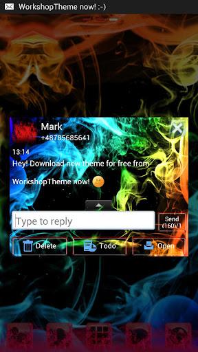 【免費個人化App】GO SMS Theme Rainbow Smoke Buy-APP點子