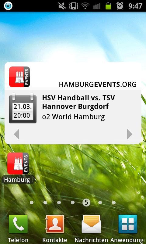 HAMBURG EVENTS › Eventguide- screenshot