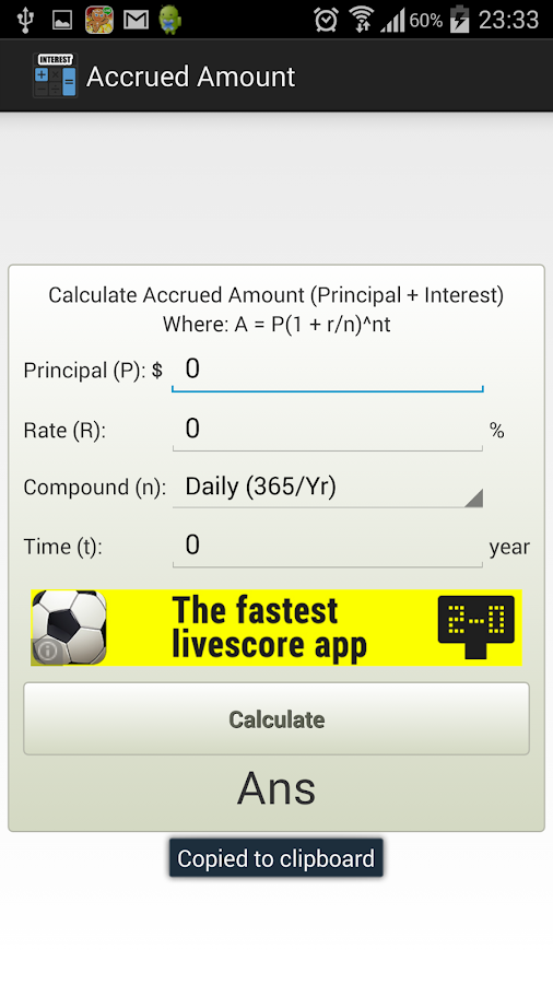 Compound Interest Calculator Android Apps On Google Play