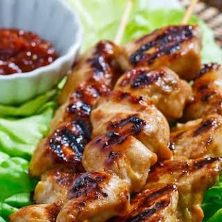 Dakkochi (Korean Skewered Chicken).