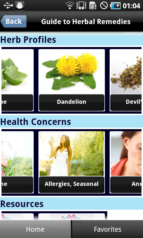 Guide To Herbal Remedies - screenshot