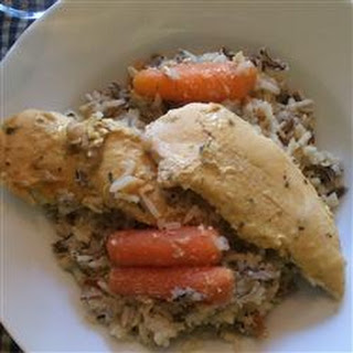Chicken and Wild Rice Slow Cooker Dinner.