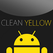 GO SMS Clean Yellow Theme