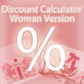 Discount Calculator – Woman logo