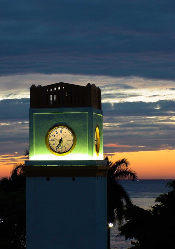 clocktower-Cozumel - The Cozumel clock tower is a popular meeting spot for visitors to the island.