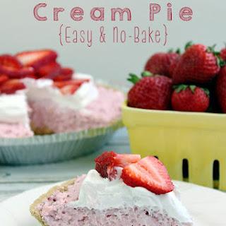 Strawberry Cream Pie {Easy & No-Bake}