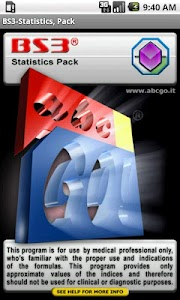 BS3 Statistics Pack screenshot 0