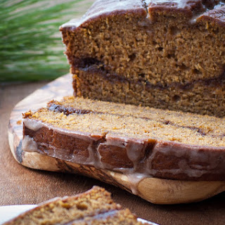 Pumpkin Banana Bread With Cinnamon Swirl