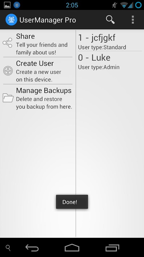 UserManager Free - screenshot