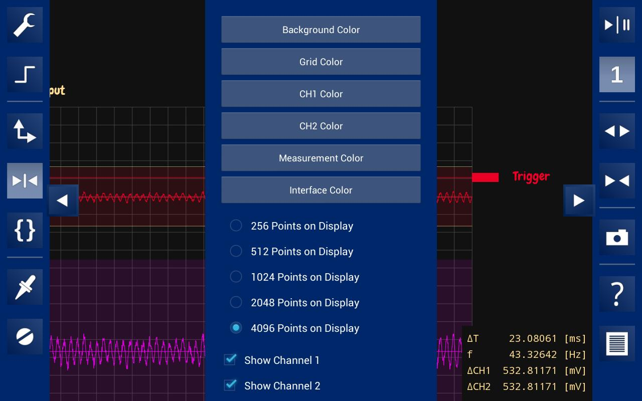 OsciPrime Oscilloscope- screenshot
