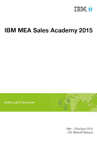 IBM MEA Sales Academy 2015