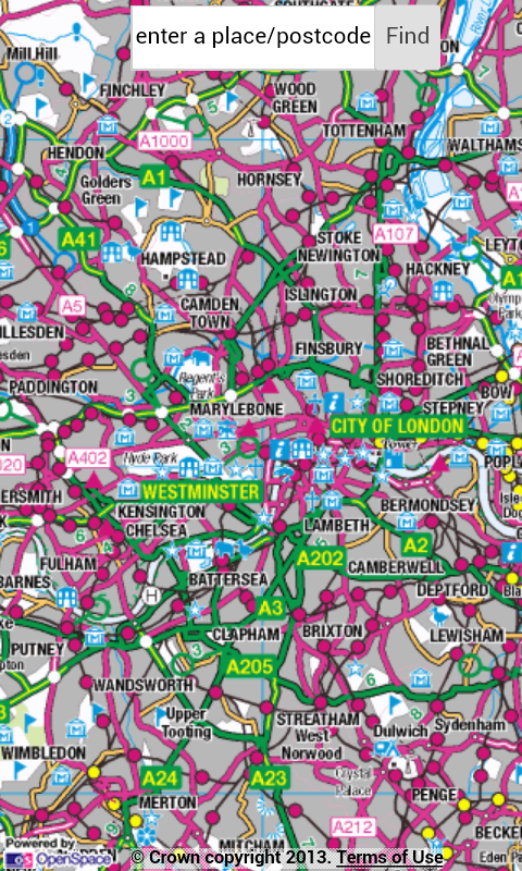 OS Maps UK - screenshot