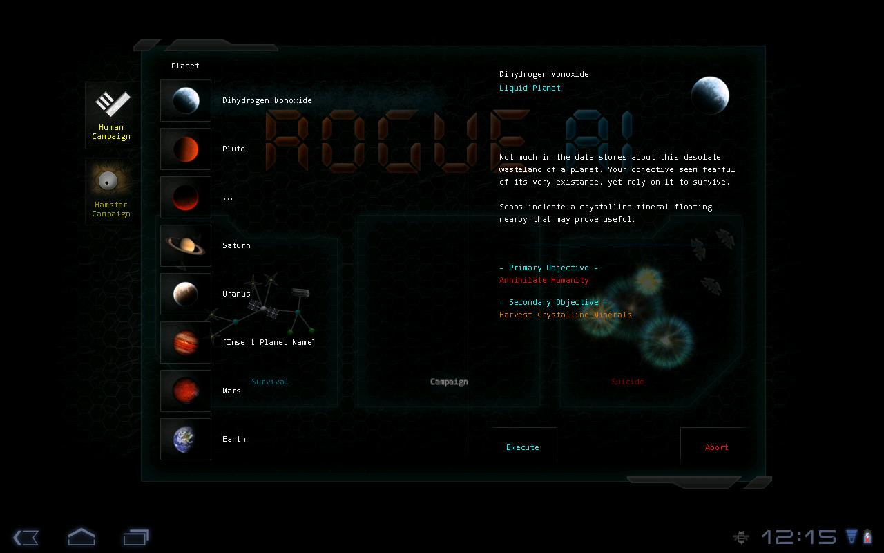Rogue AI - Demo - screenshot