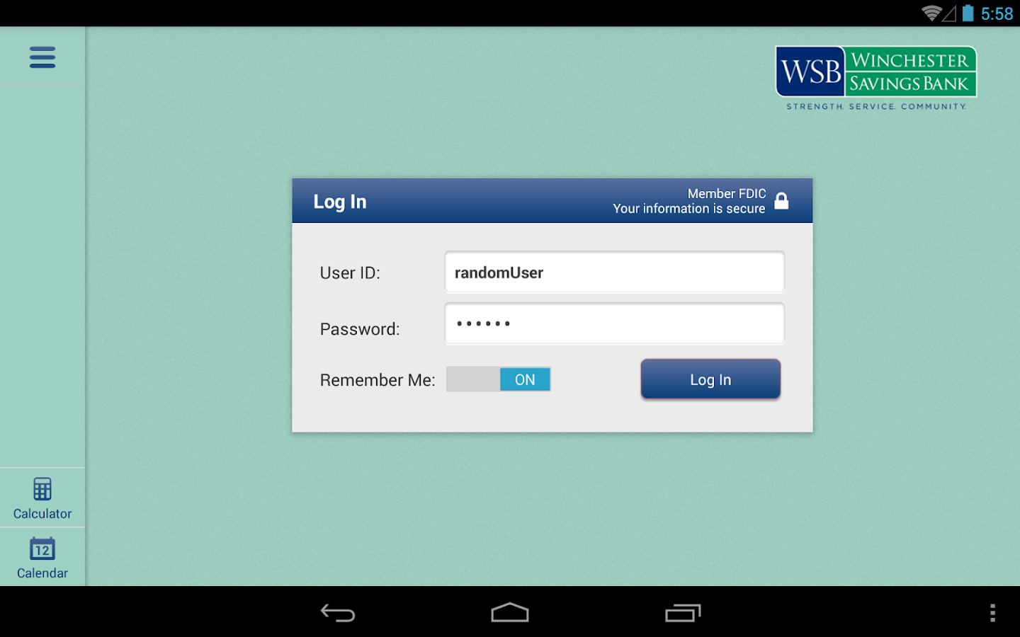 Winchester Savings Bank-Tablet- screenshot
