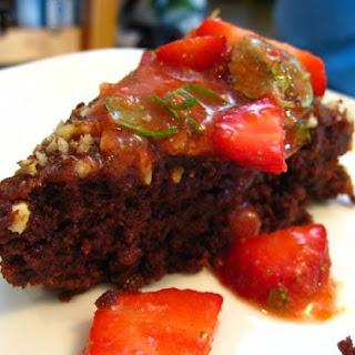 Flourless Chocolate-Kahlua Cake with Cajeta