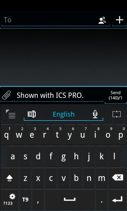 GO Keyboard ICS Skin - screenshot