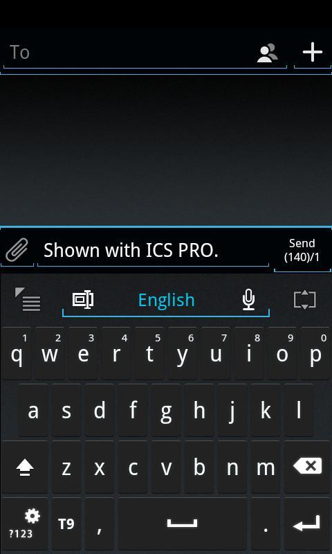 GO Keyboard ICS Skin- screenshot