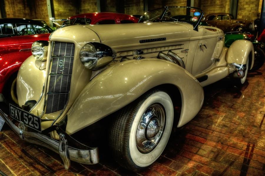 U.S. Vintage Supercharge Automobile by Carlo Claveria - Transportation Automobiles ( automobile )