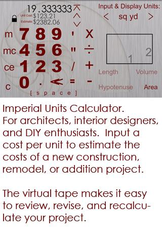Home Builder's Calculator - screenshot